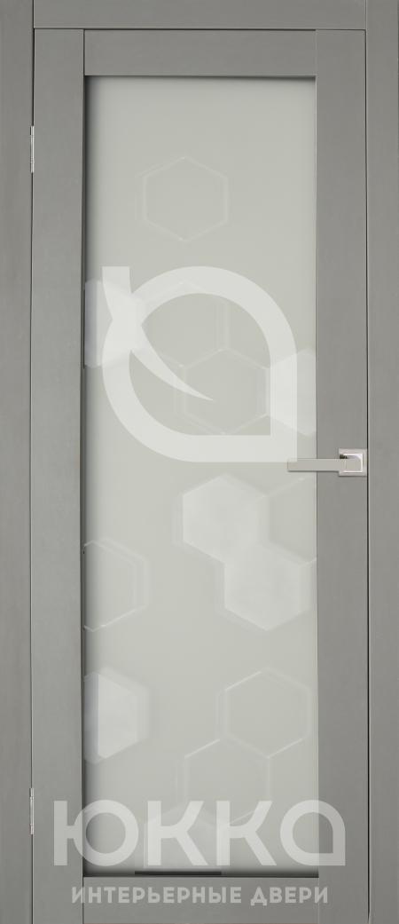 Межкомнатная дверь А4 - Кварц стекло матовое с рисунком