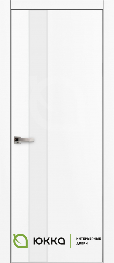 Межкомнатная дверь Платинум 5 - Ультра белая, лакобель ультра белая
