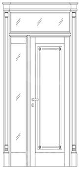 Межкомнатная дверь Фрамуга за кв. м.
